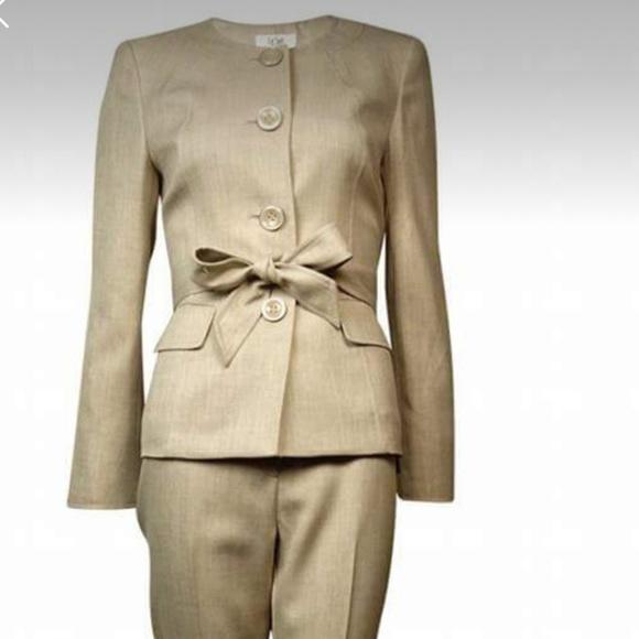Le Suit Jackets Coats Womens Tan Suit Poshmark